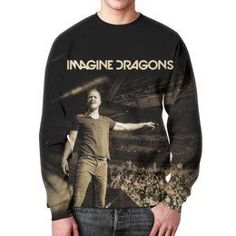 """Свитшот унисекс с полной запечаткой """"Imagine Dragons"""" - рок, группы, инди, imagine dragons, имейджин драгонс"""