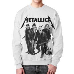 """Свитшот унисекс с полной запечаткой """"Metallica"""" - рок, metallica, группы, метал, металлика"""
