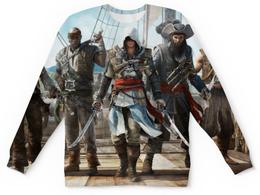 """Свитшот унисекс с полной запечаткой """"assassin's creed black flag"""" - убийца, пират, assassin's creed black flag, assassin's creed"""