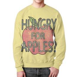 """Свитшот унисекс с полной запечаткой """"Hungry For Apples? Рик и Морти"""" - прикольные, мульт, яблоки, rick and morty, рик и морти"""