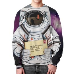 """Свитшот мужской с полной запечаткой """"Space. NASA"""" - звезды, космос, вселенная, космический, thespaceway"""