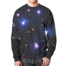 """Свитшот мужской с полной запечаткой """"Космос (space)"""" - space, звезды, космос, вселенная, галактика"""