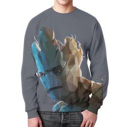 """Свитшот мужской с полной запечаткой """"Грут (Groot)"""" - комиксы, марвел, стражи галактики, groot, guardians of the galaxy"""