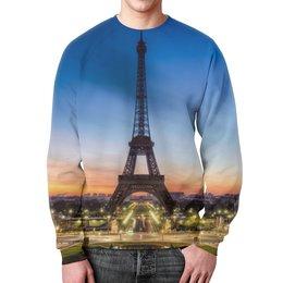 """Свитшот мужской с полной запечаткой """"Париж"""" - страны, город, дизайн, франция, париж"""