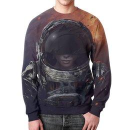 """Свитшот унисекс с полной запечаткой """"Космос"""" - космос, фантастика, путь, атмосфера, космонавт"""