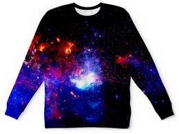 """Свитшот унисекс с полной запечаткой """"Великий Космос"""" - космос, наука, прогресс, денис гесс, the spaceway"""