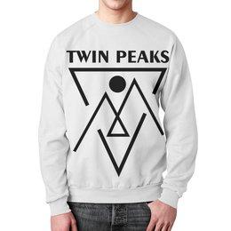 """Свитшот мужской с полной запечаткой """"Твин Пикс"""" - сериалы, twin peaks, твин пикс, чёрный вигвам, black lodge"""