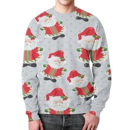 """Свитшот мужской с полной запечаткой """"Дед Мороз"""" - праздник, новый год, снег, дед мороз, санта"""