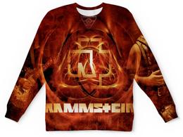 "Свитшот унисекс с полной запечаткой ""Rammstein"" - rammstein, рок и метал"