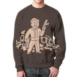 "Свитшот мужской с полной запечаткой ""Fallout"" - fallout, бункер, фаллаут, убежище, ядер кола"