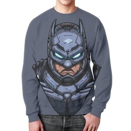 "Свитшот унисекс с полной запечаткой ""Armored Batman /Бэтмен в Броне"" - batman, бэтмен, dc comics, armored batman, бэтмен в броне"