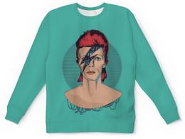 """Свитшот унисекс с полной запечаткой """"David Bowie"""" - дэвид боуи, david bowie"""