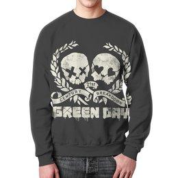 """Свитшот мужской с полной запечаткой """"Green Day"""" - рок, панк, группы, green day, грин дэй"""