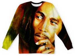 """Свитшот унисекс с полной запечаткой """"Bob Marley (Боб Марли)"""" - регги, боб марли, bob marley"""