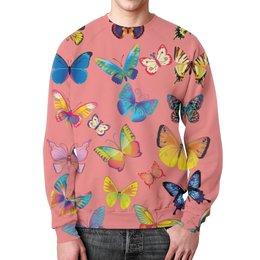 """Свитшот унисекс с полной запечаткой """"Бабочка"""" - бабочка, лето, красивая, яркая"""