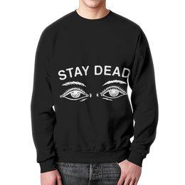"Свитшот мужской с полной запечаткой ""stay dead"" - bmth, bring me the horizon, stay dead"