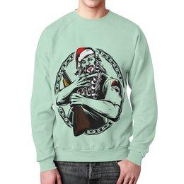 """Свитшот мужской с полной запечаткой """"Дед мороз"""" - новый год, дед мороз, санта клаус, merry christmas, 2017"""