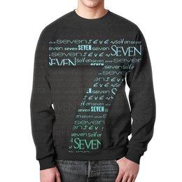 """Свитшот унисекс с полной запечаткой """"Seven"""" - цифры, счет, семь"""