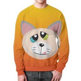 """Свитшот унисекс с полной запечаткой """"Кот Успех"""" - кот, кошак, котик, киска, wax"""