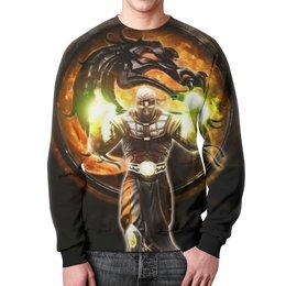 "Свитшот унисекс с полной запечаткой ""Mortal Kombat"" - дракон, mortal kombat, мортал комбат, ермак"
