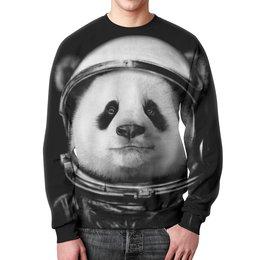 """Свитшот мужской с полной запечаткой """"Панда Космонавт"""" - панда, космонавт"""