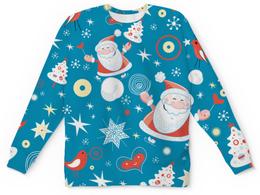 """Свитшот унисекс с полной запечаткой """"Дед Морооз (Новый год)"""" - дед мороз, санта, елка"""