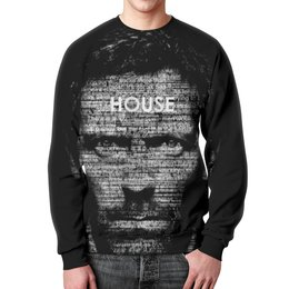 "Свитшот унисекс с полной запечаткой ""Доктор Хаус (House M.D.)"" - house, доктор хаус, хью лори"