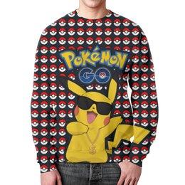 """Свитшот унисекс с полной запечаткой """"Pokemon GO"""" - игра, покемон, пикачу, доллар, pikachu"""