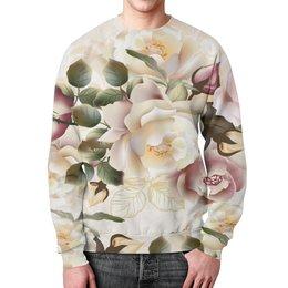 """Свитшот унисекс с полной запечаткой """"Розовые розы"""" - цветы, розы"""