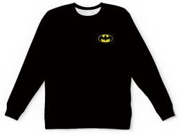 """Свитшот унисекс с полной запечаткой """"Бэтмен/Batman"""" - комиксы, бэтмен, marvel, черныйсвитшот"""