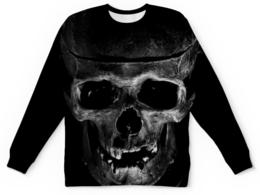 """Свитшот унисекс с полной запечаткой """"Skull"""" - череп, кости, тьма"""