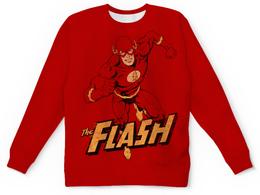 "Свитшот унисекс с полной запечаткой ""Флэш "" - flash, комиксы, супергерои, флэш"
