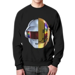 """Свитшот мужской с полной запечаткой """"Daft Punk"""" - музыка, хаус, электроника, daft punk, дафт панк"""