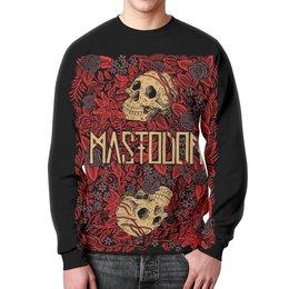 "Свитшот унисекс с полной запечаткой ""Mastodon Band"" - skull, череп, heavy metal, рок группа, mastodon"