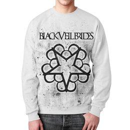 """Свитшот унисекс с полной запечаткой """"Black Veil Brides"""" - black veil brides, музыка, группы, рок, метал"""