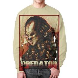 """Свитшот унисекс с полной запечаткой """"Predator"""" - хищник, кино, arnold schwarzenegger, predator, арнольд шварцнегер"""