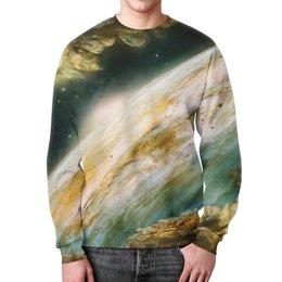 """Свитшот мужской с полной запечаткой """"Познание Вселенной"""" - space, космос, наука, марс, thespaceway"""