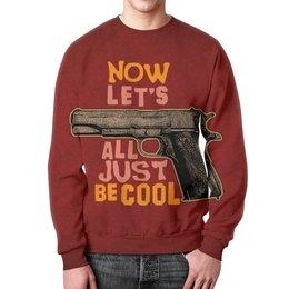 """Свитшот унисекс с полной запечаткой """"Оружие арт"""" - пистолет, ствол, оружие, дизайн, арт"""