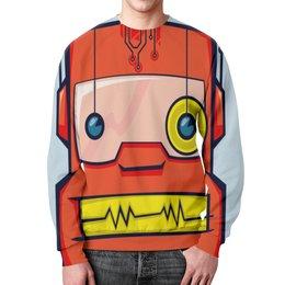"""Свитшот мужской с полной запечаткой """"Monster Face"""" - прикол, юмор, монстр, робот, андроид"""
