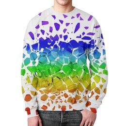 """Свитшот унисекс с полной запечаткой """"Broken rainbow"""" - радуга, rainbow, broken, сломанная"""