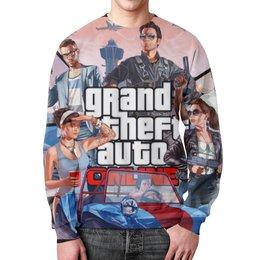 "Свитшот унисекс с полной запечаткой ""ГТА (GTA)"" - grand theft auto, gta, гта"
