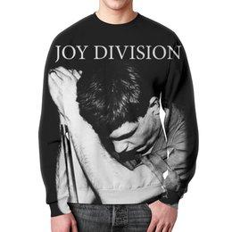 """Свитшот мужской с полной запечаткой """"Joy Division"""" - joy division, группы, ian curtis, пост-панк, иен кёртис"""