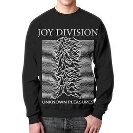"""Свитшот мужской с полной запечаткой """"Joy Division"""" - joy division, unknown pleasures, группы, ian curtis, пост-панк"""