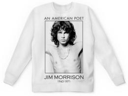 "Свитшот унисекс с полной запечаткой ""Джим Моррисон"" - музыка, jim morrison, the doors, джим моррисон, doors"