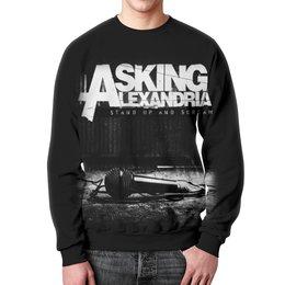 """Свитшот мужской с полной запечаткой """"Asking Alexandria"""" - музыка, рок, группы, asking alexandria, аскинг александриа"""