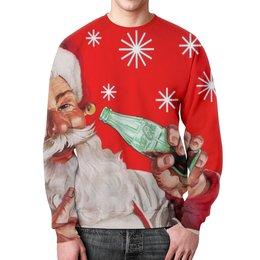 """Свитшот мужской с полной запечаткой """"Новый Год"""" - новый год, дед мороз, санта, праздники"""