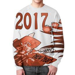 """Свитшот унисекс с полной запечаткой """"Новогодний сюрприз"""" - новый год, подарок, сюрприз, новогодний, 2017"""