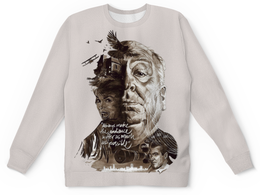 """Свитшот унисекс с полной запечаткой """"Alfred Hitchcock"""" - кино, фильмы, арт дизайн, альфред хичкок, alfred hitchcock"""