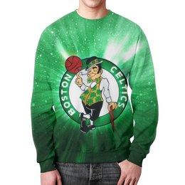 """Свитшот унисекс с полной запечаткой """"Бостон Селтикс (Boston Celtics)"""" - nba, нба, бостон селтикс"""