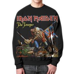 "Свитшот унисекс с полной запечаткой ""Iron Maiden Band"" - heavy metal, iron maiden, хэви метал, eddie, nwobhm"